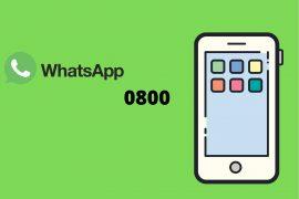 WhatsApp com 0800